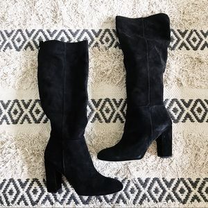 Sam Edelman Victoria Slouch Suede Block Heel Boots